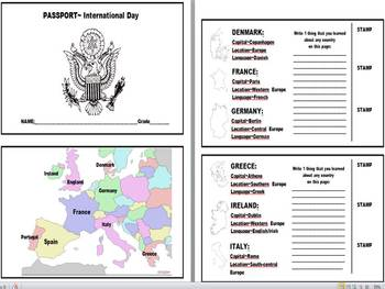 Social Studies Student Passport Template by Kim Spivey | TpT