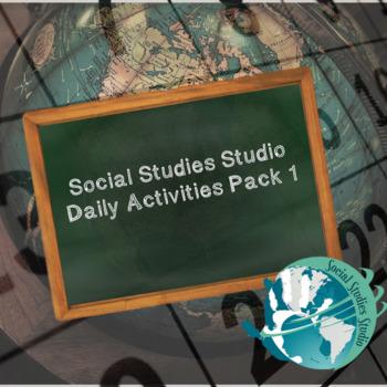 Social Studies Studio Activities Pack 1