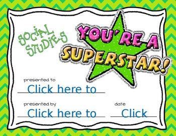 Social Studies Super Star Award
