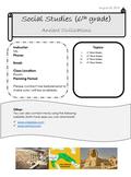 Social Studies Syllabus (Editable!)