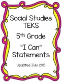 Social Studies TEKS I Can Statements