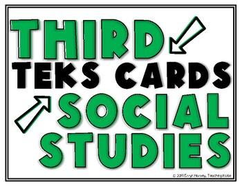 Social Studies TEKS Third Grade