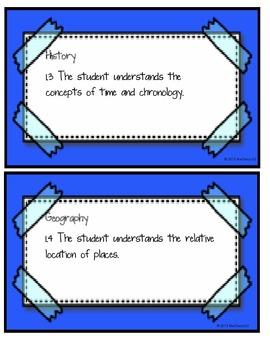 Social Studies TEKS for 1st Grade