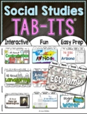 Social Studies Interactive Notebook Tab-Its | Distance Learning