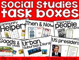 Social Studies Task Boxes - Primary