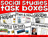 Social Studies Task Boxes - Primary