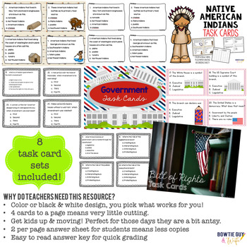 Social Studies (History) Task Card Activities Bundle (GREAT FOR ASSESSMENT)