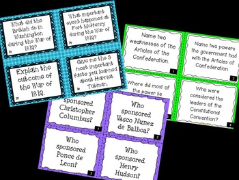 Social Studies Task Cards for the YEAR! (Fourth Grade)