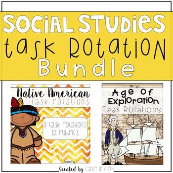 Social Studies Task Rotations {Bundle}