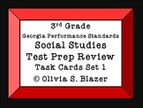 Social Studies Test Prep Review Task Cards Set 1 3rd grade GPS