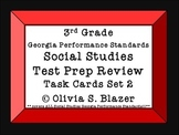 Social Studies Test Prep Review Task Cards Set 2 3rd grade GPS