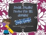 Social Studies Test Prep: Task Cards for All Domains {Diff