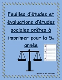 Social Studies Tests Governement / Études sociales: gouvernement