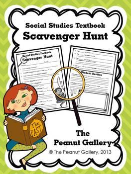 Social Studies Textbook Scavenger Hunt