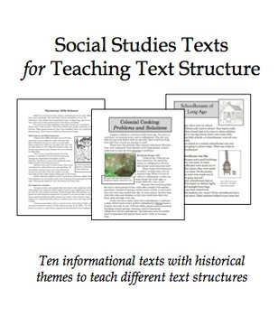 Social Studies Texts for Teaching Text Structure