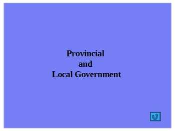 Social Studies - The Government of Canada Part 2 PowerPoint