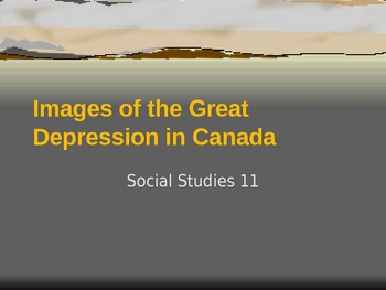Social Studies - The Great Depression PowerPoint