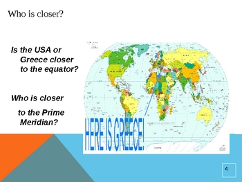 Social Studies: The Location of Greece PowerPoint