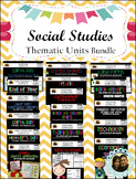 Social Studies Thematic Units Interactive Notebooks- Growing Bundle Save 20%