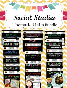 Social Studies Thematic Units Interactive Notebooks- Growi