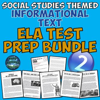Social Studies Themed Informational Text ELA Test Prep Bundle 2