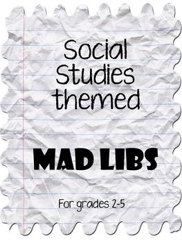 Social Studies Themed MAD LIBS