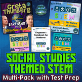 Social Studies Themed STEM Multi Pack with Greta Thunberg Interactive Notebook