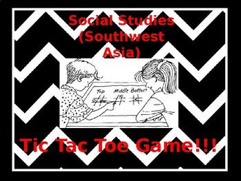 Social Studies Tic Tac Toe game