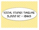 Social Studies Timeline 5000 BC - 1865