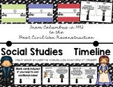 Social Studies Timeline (Age of Exploration to Post Civil War)