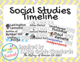 Social Studies Timeline Tennessee Standards 4th Grade w/ A