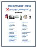 Social Studies Topics – Leveled Books: First Grade Pre-Primer Levels C - E