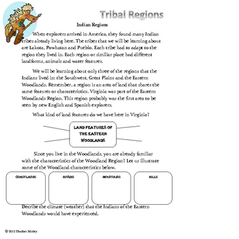 Social Studies: Tribal Regions of the United States Bundle