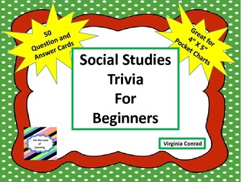 Social Studies Trivia for Beginners---50 Question and Answ