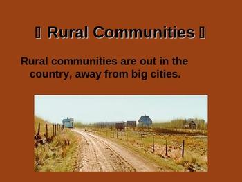 Social Studies -Types of Communities
