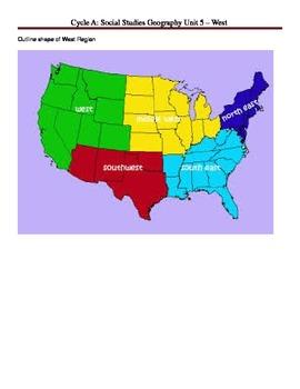 Social Studies U. S. Geography - Western Region Unit Plan