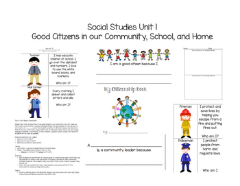 Social Studies Unit 1 Good Citizens in our Community, School, and Home