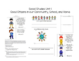 Social Studies Unit 1 Good Citizens in our Community, Scho