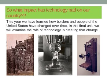 Social Studies Unit 6 Impact of Technology, Topic 1 Innovation in Everyday Life