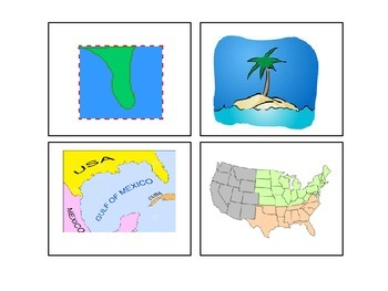 Social Studies Unit: The World Around Us *Vocabulary Cards*