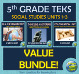 Social Studies Units 1-3 VALUE Bundle for 5th-7th Graders | Digital Notebooks