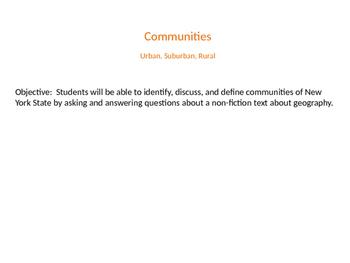 Social Studies - Urban, Suburban, Rural