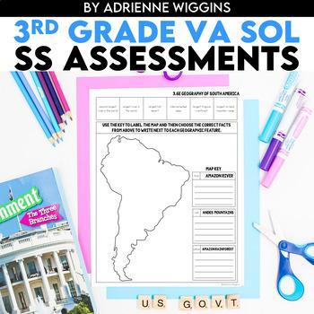 Social Studies VA SOL Standards-Based Assessments 3rd Grade