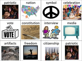 Social Studies Visual Vocabulary Cards