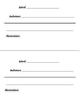 Social Studies Vocab Journal