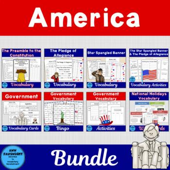 Social Studies Vocabulary: America Bundle