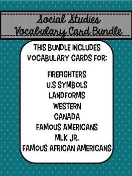 Social Studies Vocabulary Bundle