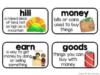 Social Studies Vocabulary Cards {1st Grade}