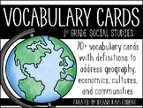 Social Studies Vocabulary Cards {1st Grade}