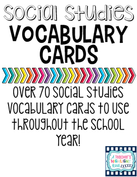 Social Studies Vocabulary Words